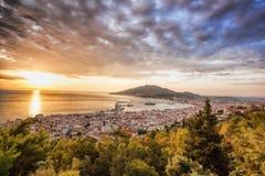 Zante pendant le lever de soleil sur l'île de Zakynthos en Grèce Photographie stock