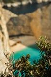 Zante shipwreck beach Stock Image