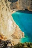 Zante shipwreck beach Royalty Free Stock Images