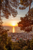 Zante town during sunrise on Zakynthos island in Greece Stock Photography
