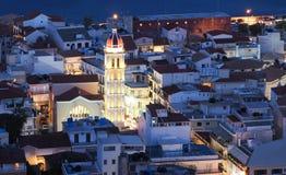 Zante Town Zakynthos Greece at night. Stock Photo