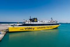 ZANTE, Zante transporte en bac le ferry Photographie stock libre de droits