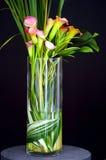 Zantedeschias dans le vase Photos libres de droits