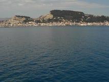 Zantestad Het eiland van Zakynthos Griekenland Stock Fotografie