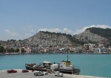 Zantestad Het eiland van Zakynthos Griekenland Stock Afbeeldingen