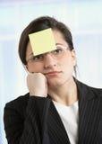 zanudzający bizneswoman fotografia stock