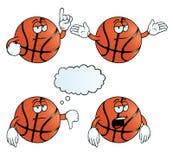 Zanudzający koszykówka set Obrazy Stock