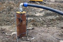 Zanurzalny pompa dewater budowę Fotografia Royalty Free