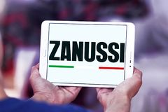 Zanussi company logo. Logo of Zanussi company on samsung tablet . Zanussi is an Italian producer of home appliances that was bought by Electrolux royalty free stock image