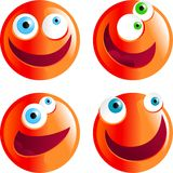 Zany smilies Stock Image