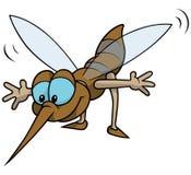 Zanzara di volo Fotografia Stock