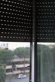 Zanzariera su una finestra del PVC Immagini Stock Libere da Diritti