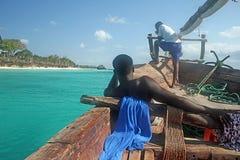 Zanzibar żeglarzi zdjęcie stock