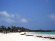 Zanzibar beach. When the tide Royalty Free Stock Photo