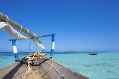 Zanzibar beach. Crystal clear waters at Zanzibar beach in Tanzania Stock Photo