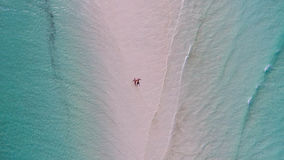 Zanzibar beach aerial view. Shot from the drone Royalty Free Stock Photography