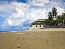 Zanzibar beach. Beautiful beach in Bwejuu, Zanzibar Stock Photos