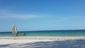 Zanzibar Beach. Beach in Zanzibar, photographed in october 2016, Kwale stock video