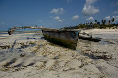 Zanzibar fisherman's boat Stock Photos