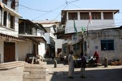 Zanzibar gataplats Arkivfoto