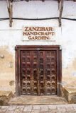 Zanzibar Handcraft trädgården Royaltyfria Foton