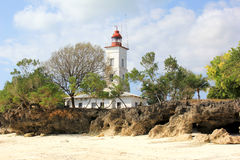 Zanzibar Lighthouse. The lighthouse in Nungwi, Zanzibar Stock Photography