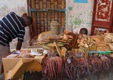 Zanzibar market. Market in Stone town, Zanzibar, Tanzania Royalty Free Stock Photo