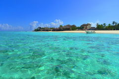 Zanzibar Mnarani Nungwi. Zanzibar Mnarani shoreline, with turquoise water Stock Photos