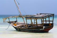 Zanzibar, Nungwi : bateau Image stock