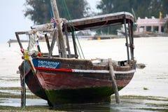 Zanzibar Nungwi boat Royalty Free Stock Photo