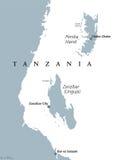 Zanzibar and Pemba Tanzania political map vector illustration