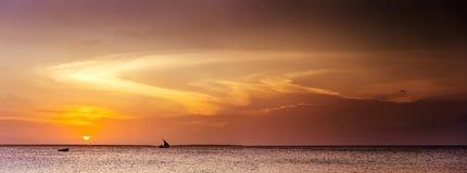 Zanzibar piękny Zmierzch Fotografia Stock