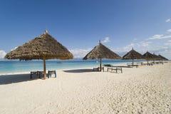 Zanzibar resort beach stock photo