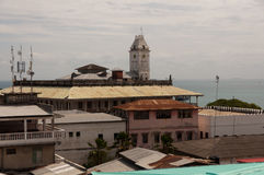 Zanzibar's House of Wonders. The House of Wonders seen behind the rooftops of Stone Town, Zanzibar (Tanzania Stock Photos