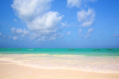 Zanzibar sand beach Stock Image