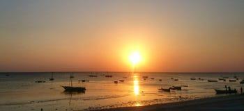Zanzibar solnedgång Fotografering för Bildbyråer