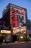 Zanzibar stip club and Ryerson in Toronto. The famous Zanzibar strip club on Yonge Street in Toronto, Canada.  It celebrated its 50th anniversary in 2010.  In Stock Images
