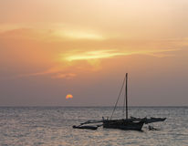 ZANZIBAR SUNSET Royalty Free Stock Image