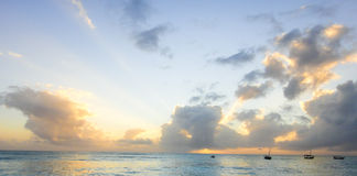 Zanzibar sunset. Beautiful sunset in Zanzibar. Africa, Tanzania Stock Image