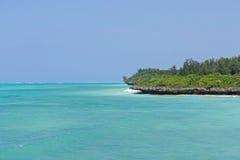 Zanzibar. Turquoise water at island Zanzibar Royalty Free Stock Photography