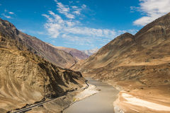Zanzskar and indus river Royalty Free Stock Photography