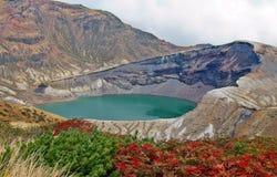 Zao Okama Crater See Stockfotos