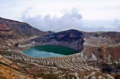 Zao Okama Crater See Lizenzfreies Stockfoto