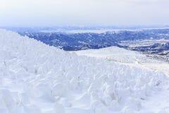 Zao Onsen berg Royaltyfri Foto