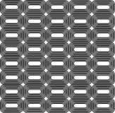 Zaokrągleni prostokąty w zaokrąglonych prostokątach taflują bezszwowego wzór Obraz Royalty Free