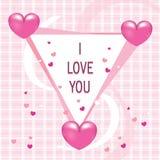 Zaokrąglony trójbok z miłość kształta odznaką royalty ilustracja