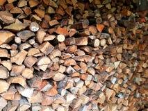 Zaopatrzeni kawałki drewno Fotografia Royalty Free