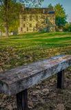 Zaopatrzeniowa zajezdnia przy fortu Smith Krajowym Historycznym miejscem Fotografia Stock