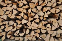 Zaopatrzony ciężki drewna cięcie Obraz Stock