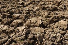 Zaorana ziemia w środkowym Włochy Zdjęcia Stock